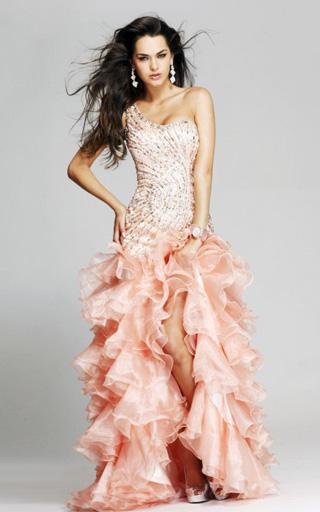 Beautiful Peach Prom Dresses 2013