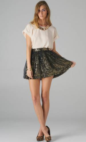 Womens Sequin Skirts