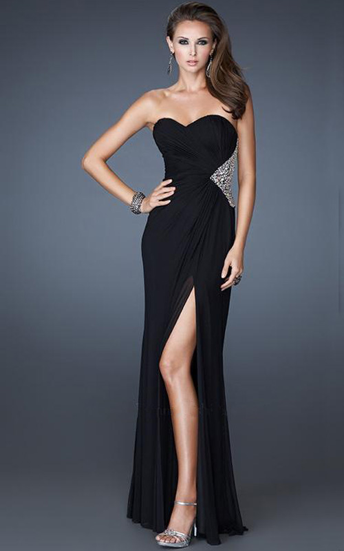 Black Strapless Evening Dresses - Long Dresses Online