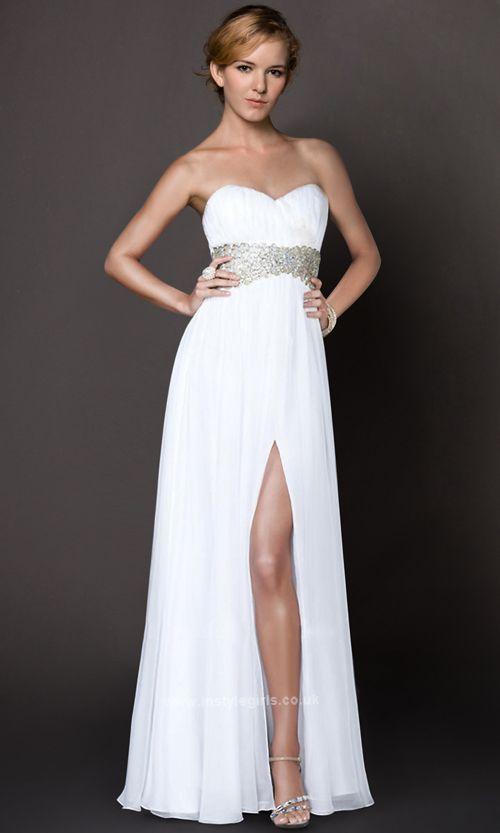 White strapless prom dresses - Dress on sale