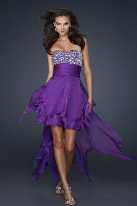 Prom Dresses Purple High Low - Prom Dresses Cheap