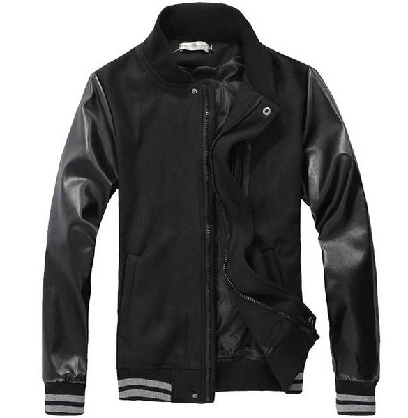 Mens Varsity Jacket Leather Sleeves - Cairoamani.com