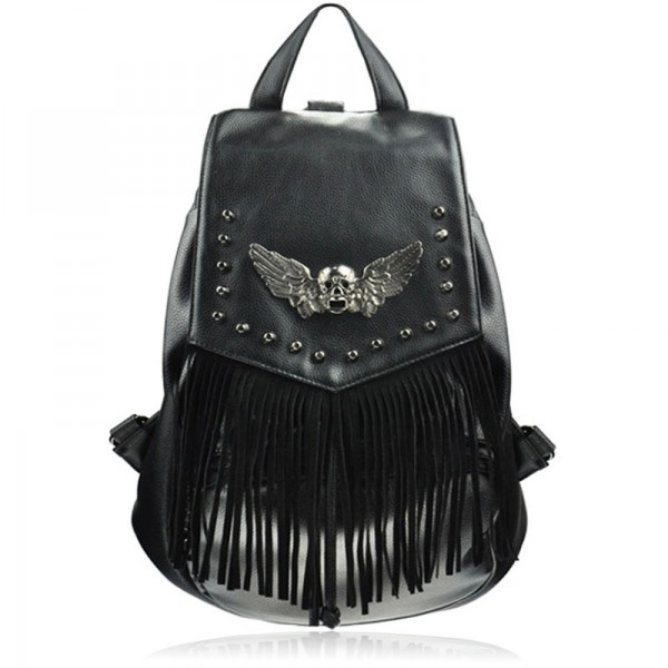 Skull Head Backpack with Wings