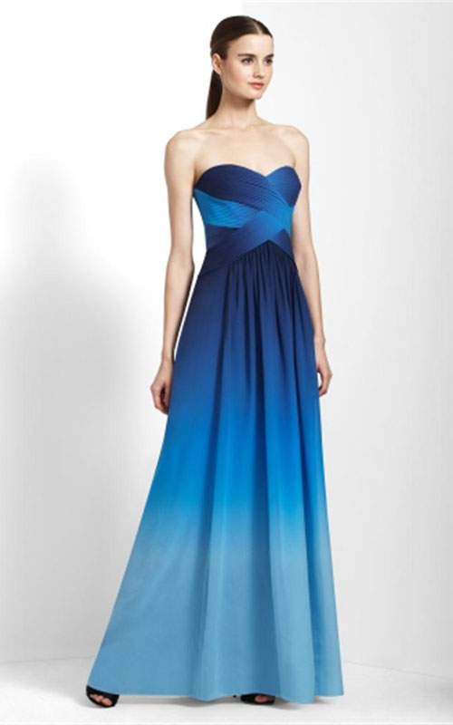 Prom Dresses Blue Ombre - 2016 Prom Dresses