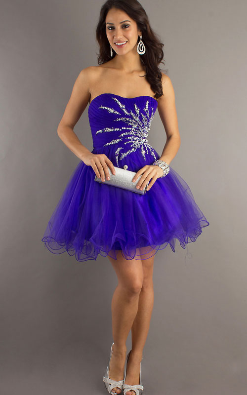 Cheap Homecoming Dresses Purple 104