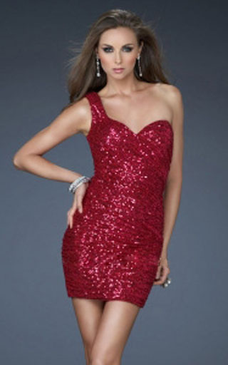 Collection Short Red Sequin Dress Pictures - Reikian