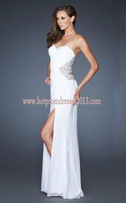 White Prom Dress on Popular White Strapless Prom Dress  White Prom Dresses