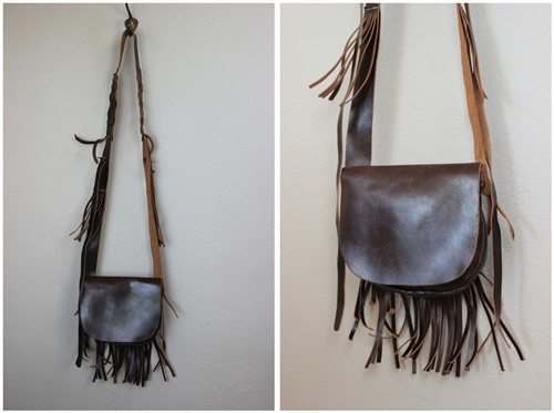 Vintage Leather Tassel Cross Body Bag