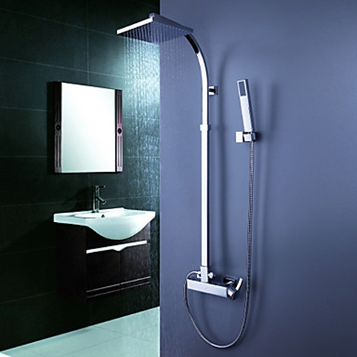 Contemporary Tub Shower Faucet With 8 Inch Shower StyleCaster