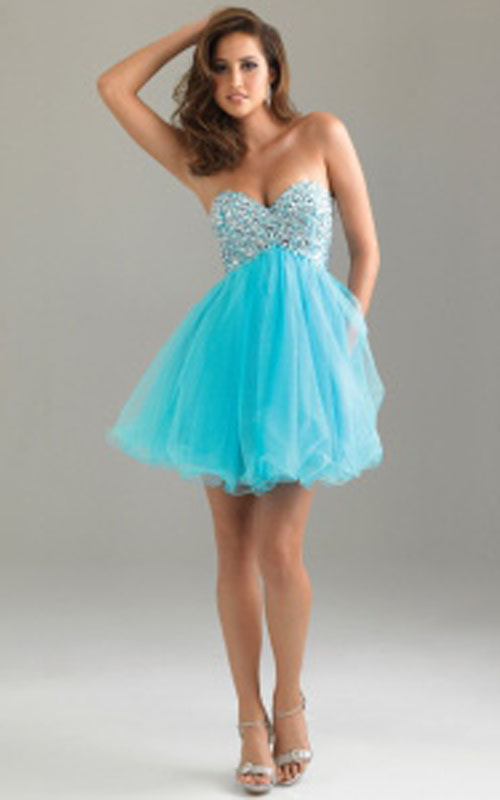 Night Moves 6487 Blue Sequin Short Prom Dress Cheap