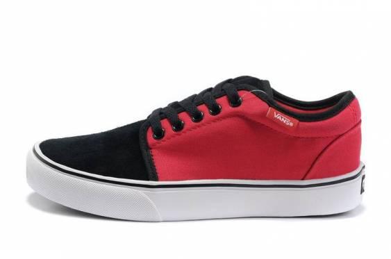 BLACK/RED MENS VANS SKATE CHUKKA LOW SHOES vans_men2 - $55.99