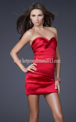 Strapless Dress on Strapless Red Short Prom Tight Dress Cheap 2013  Red Short Prom Tight