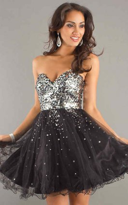 Black Sequin Dress on Night Moves 6498 Black Silver Sequin Party Dress  Night Moves 6498