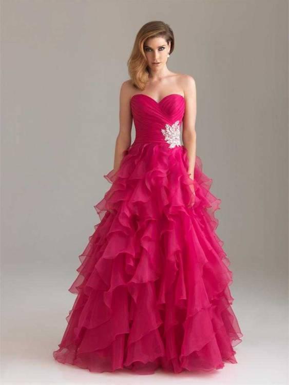 Dark Pink Prom Dress - Ocodea.com