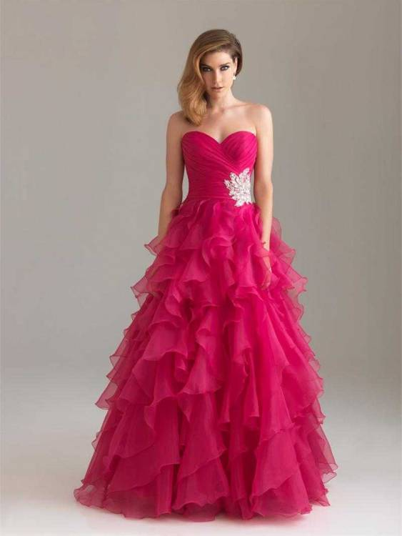 Hot Pink Prom Dresses 2013