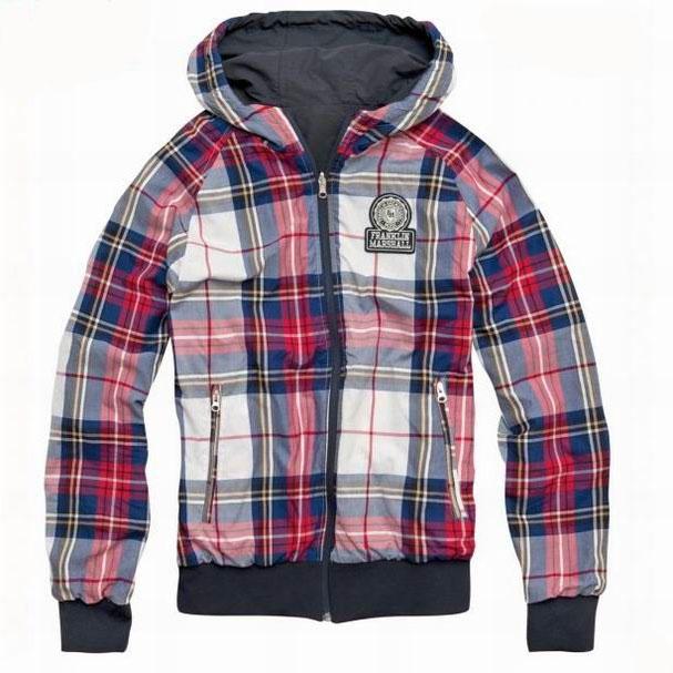 Men 39 s franklin marshall hoodie plaid varsity stylecaster - Hooi plaid ...