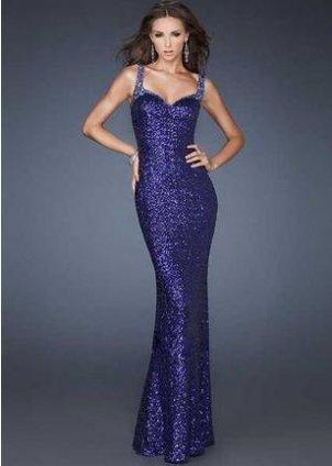 Royal Blue Sequin Prom Dress Photo Album - Reikian