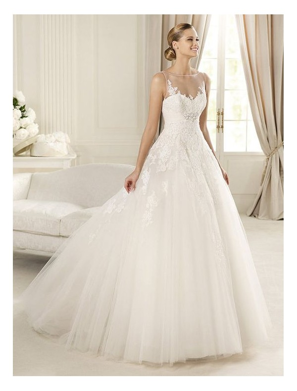 Tulle Ball Gown Wedding Dresses Lace - Overlay Wedding Dresses