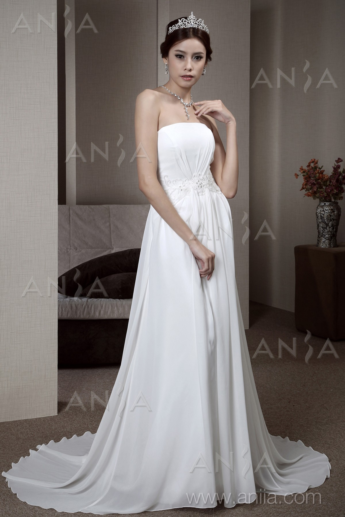 Greek Goddess Wedding Dress Strapless images