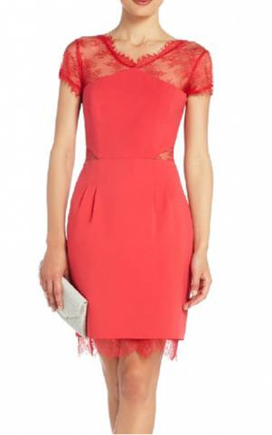 Bcbg  Dress on Bcbg Nel Lace Back Red Short Cocktail Dress Cheap