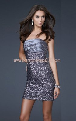 Homecoming Dress on Discount Strapless Sparkly Short Cocktail Prom Dresses Hot Sale