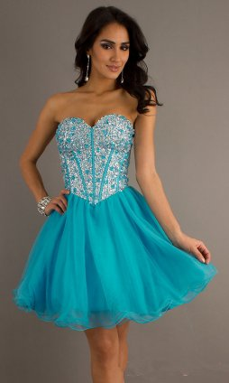Short Strapless Homecoming Dresses Cheap - Long Dresses Online