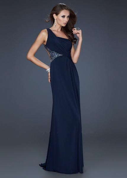 Strapless Dark Blue Gray Lurex Evening Dresses By Bcbg 12