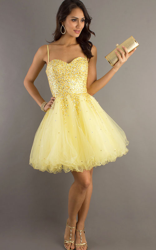 Cheap Short Yellow Prom Dresses - Holiday Dresses