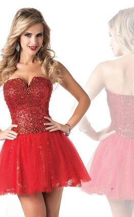 Mini Dress on Com 2013 Sequins Short Red Mini Homecoming Dresses Cheap P 876 Html