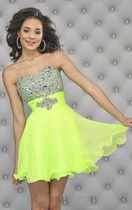 Glitter Short Prom Dresses