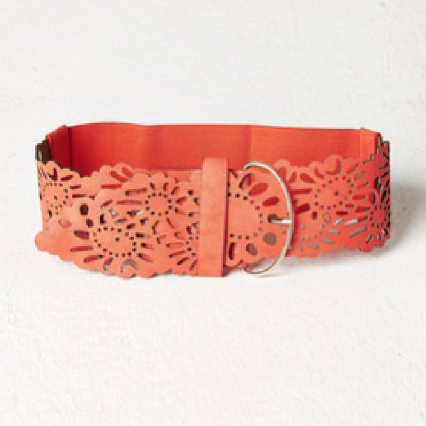 wide coral floral belts get it at stylecaster