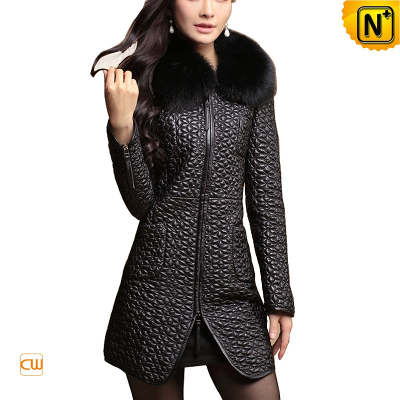 Women Leather Full Length Coat in Black - NextOne Leather