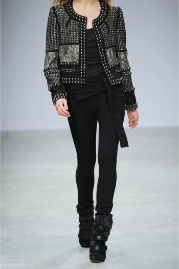 ISABEL MARANT Jayna studded wool-twill jacket