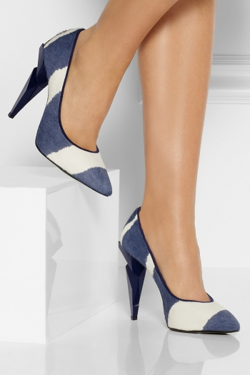 FENDI Striped calf hair pumps