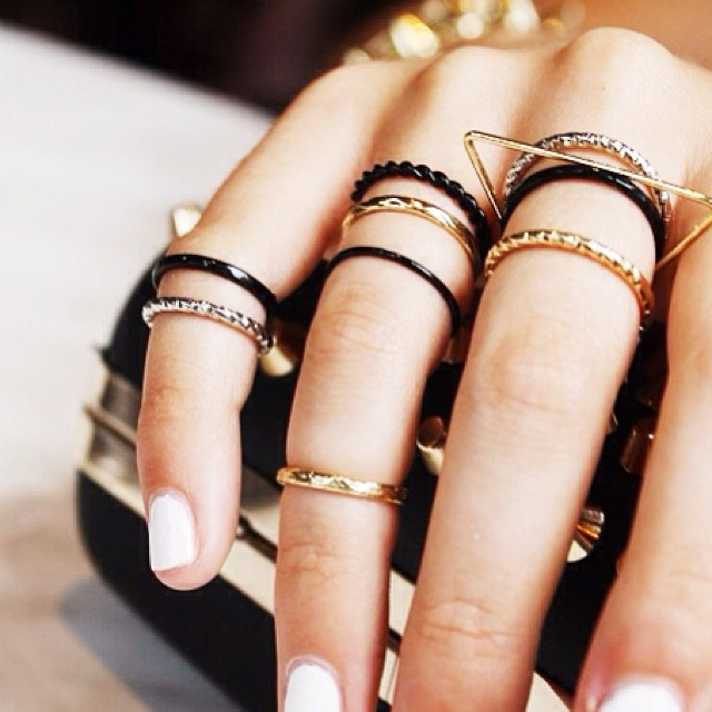 dainty gold and silver knuckle rings!!! www.shoppublik.com