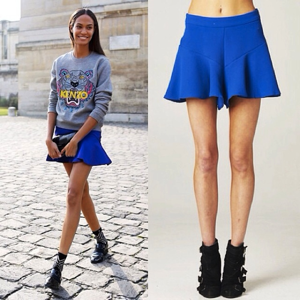 dazzling high waisted blue skorts!!! www.shoppublik.com