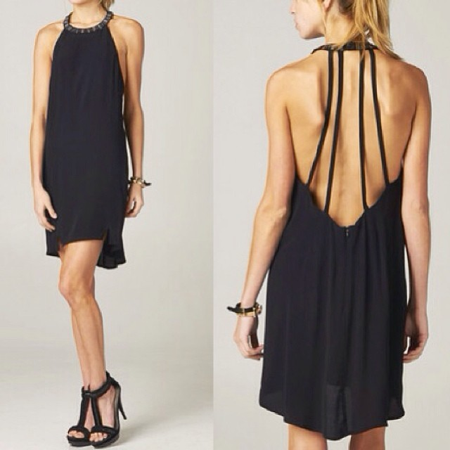 embellished backless black dress!!! www.shoppublik.com