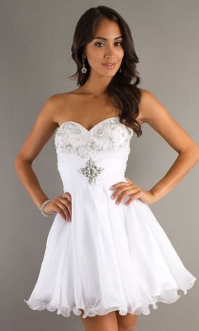Related Keywords & Suggestions for White Short Prom Dresses 2014