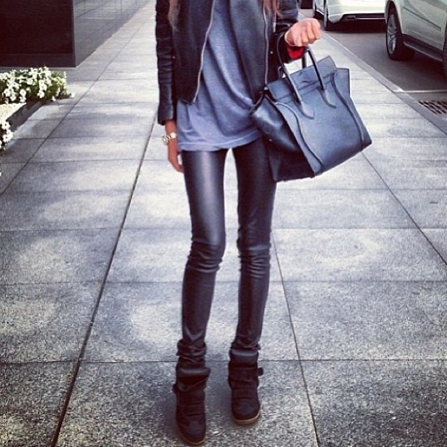 BLACK MATTED LEATHER LEGGINGS! WWW.SHOPPUBLIK.COM