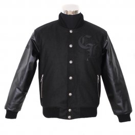 Chrome Hearts Black Leahter Horseshoes Cross Jacket