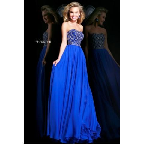 Sherri hill prom dresses 2014 blue