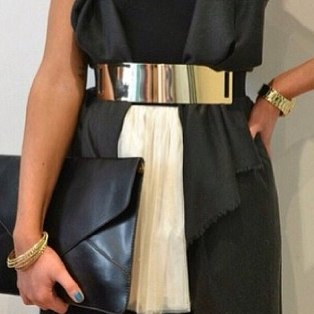 gold wide metal belts!!! www.shoppublik.com