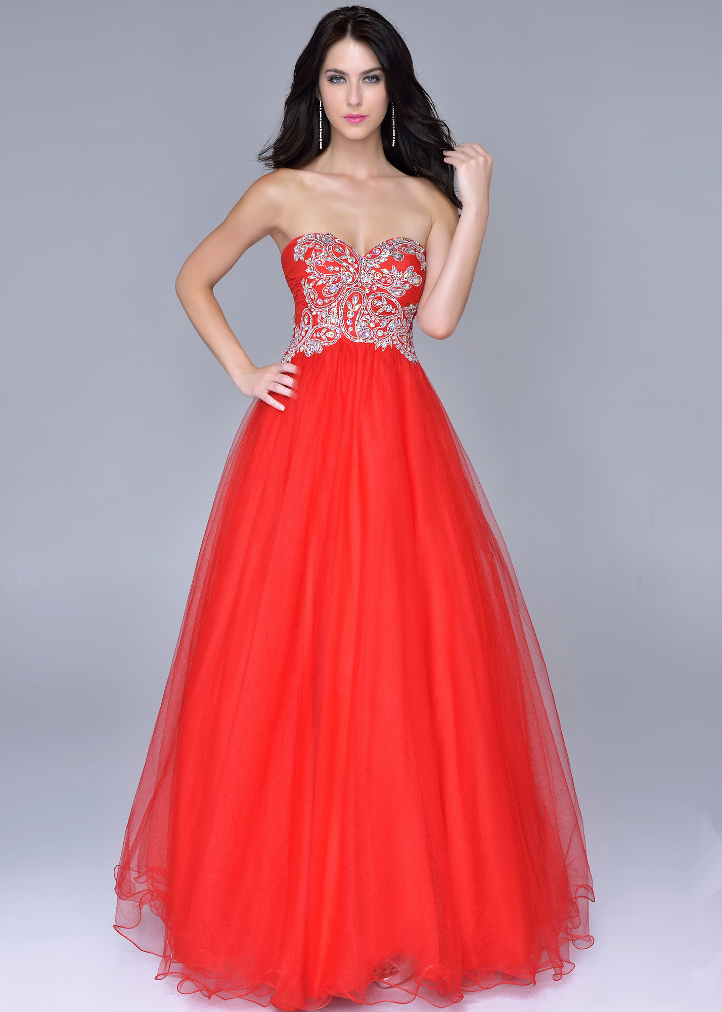 Red Ball Gown Prom Dresses - Plus Size Prom Dresses