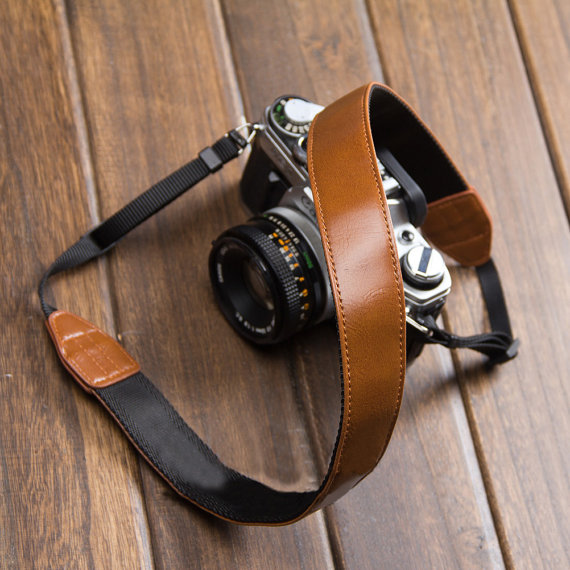 Leather DSLR Canon Nikon Camera Strap