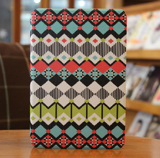 iPad Air Case Leather - iPad Air Smart Cover - Tribal Print iPad Air Stand