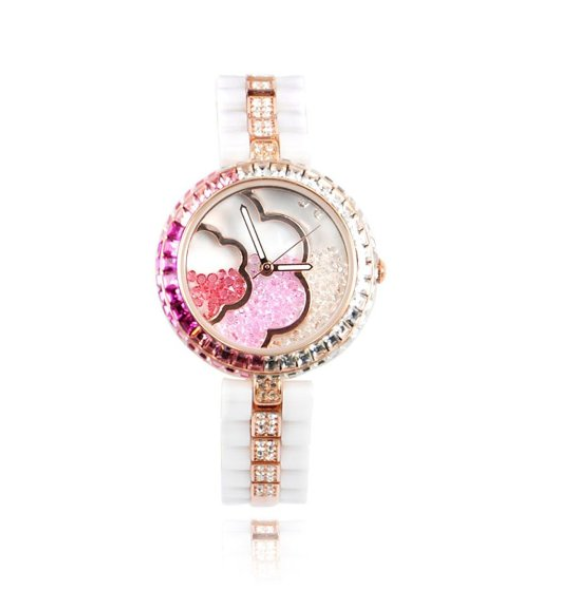 Fashion Women's Rhinestone Flower Ladies Watch
