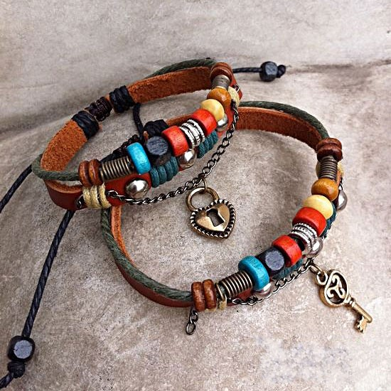 Handmade Leather Couple Bracelets
