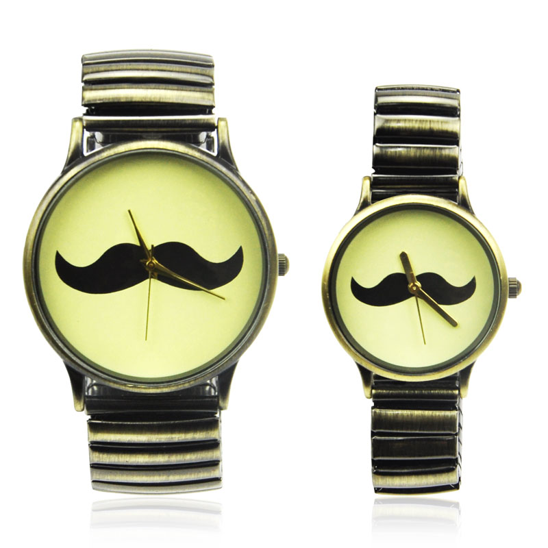 Moustache Couple Watches