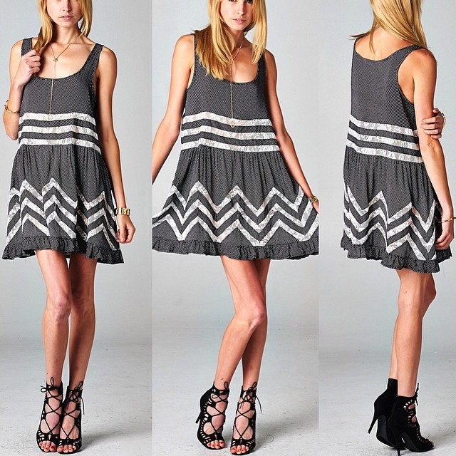 ruffled lace babydoll dress! Get it at www.shoppublik.com