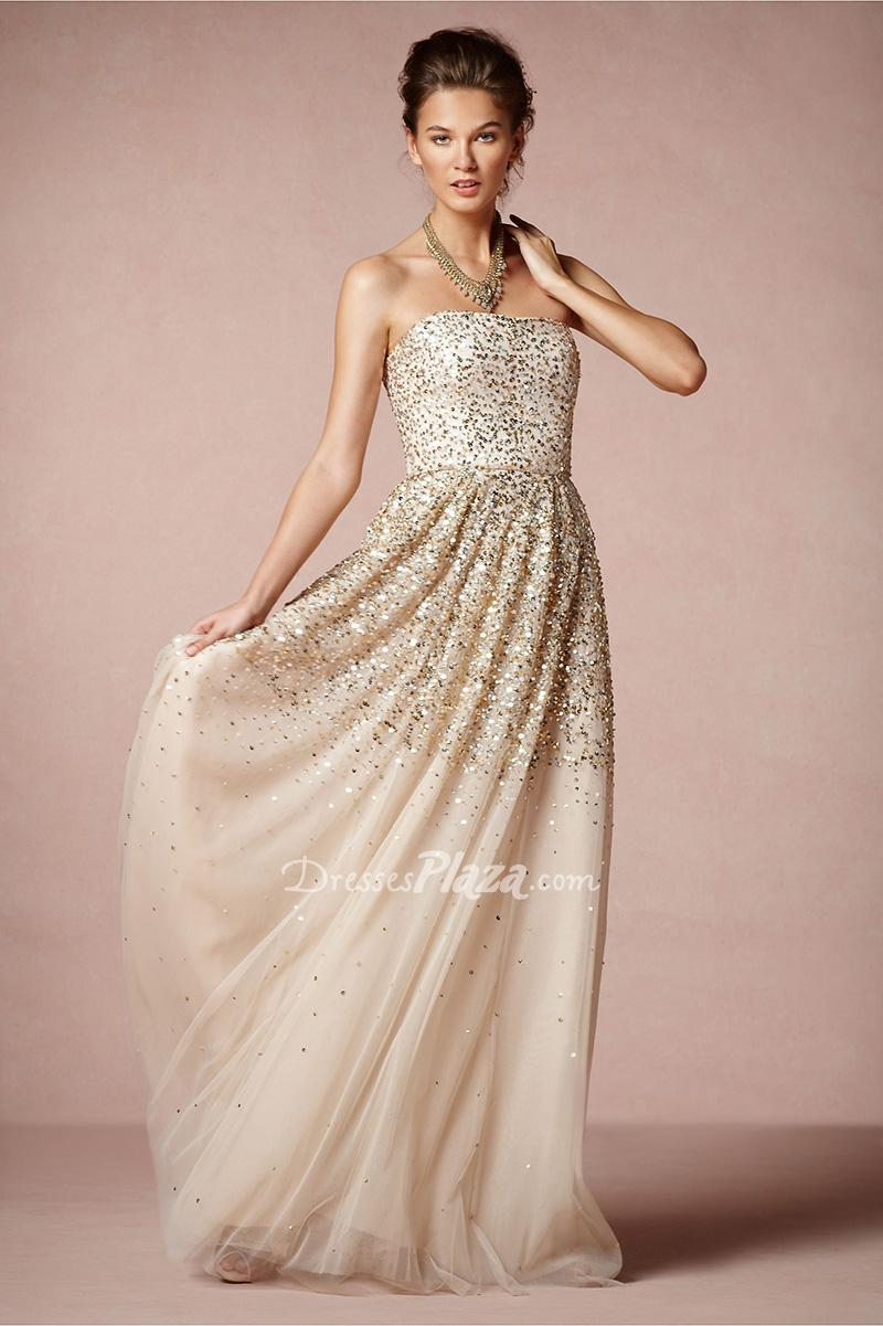 long gold sequin bridesmaid dresses stylecaster